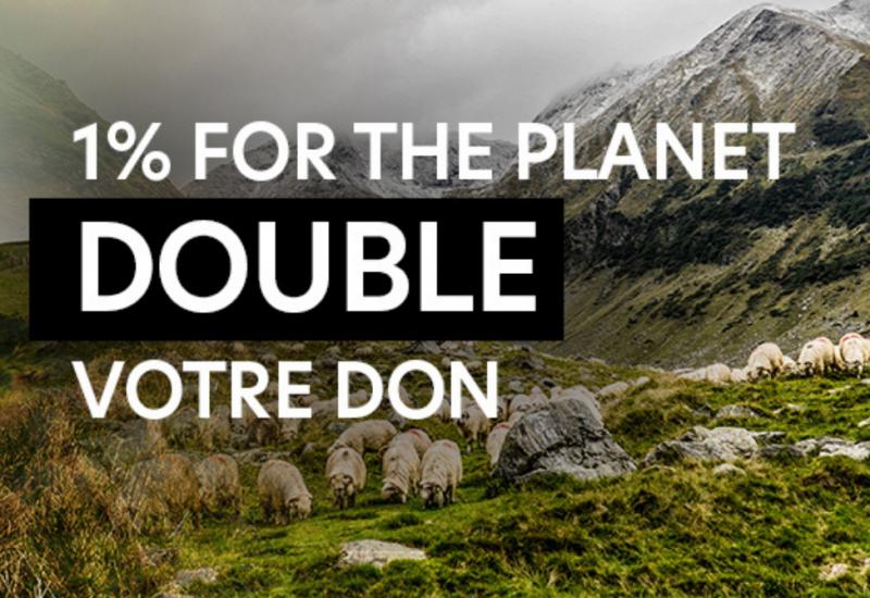 1% for the planet double vos dons à l'association AVES